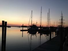 Sunrise along the waterfront in Beaufort, North Carolina. (Photo by Betsy Cartier)