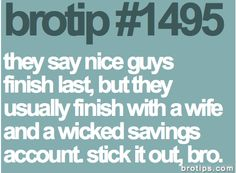 this is the best advice ever!