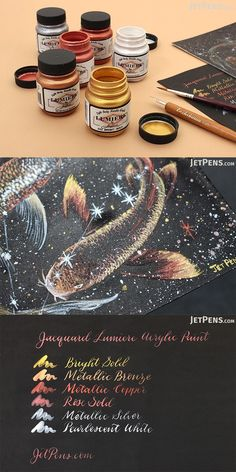 This light-bodied metallic acrylic paint is perfect for virtually any art project. This paint has excellent adhesive qualities, making it great for nonporous & porous surfaces! Zentangle, Calligraphy Supplies, Beautiful Handwriting, Dark Material, Jet Pens, Types Of Painting, Toy Craft, Paint Cans, Learn To Paint