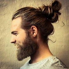 men long hair bun