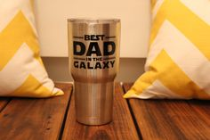 Ready to Ship Best Dad in the Galaxy by TheLuckyButterfly on Etsy