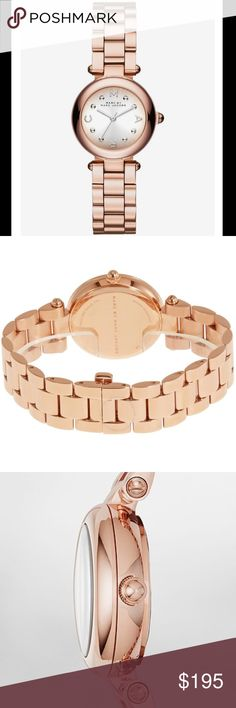 Marc by Marc Jacobs small dotty rose gold watch Brand new, authentic Marc by Marc Jacobs rose gold watch. Comes in original watch box with tag and pillow. Gorgeous rose gold stainless steel. A classic 'go to/everyday' watch. Marc by Marc Jacobs small dotty rose gold watch. Marc by Marc Jacobs Accessories Watches