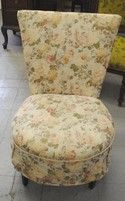 Adorable Upholstered Floral Print Sitting Chair