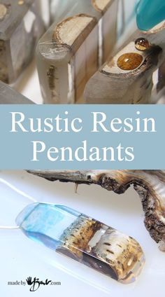 <p>My apologies; I have been really busy with an exciting new media; Resin! It's so exciting to be able to show you how you can cast and form your own absolutely unique resin jewelry. Natural 'live edge' elements are very 'hot' and this has
