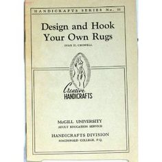 Design and hook your own rugs (Handicrafts series) (Unknown Binding) #home decor #home #decor