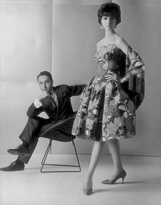 Arnold with model, 1961
