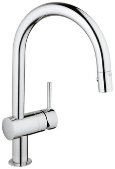 View the Grohe 31 378 Minta Pull-Down Spray Kitchen Faucet with SilkMove Ceramic Disc Cartridge and Locking Spray Control at FaucetDirect.com.