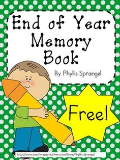 Student Gifts Discover End of Year Memory Book This is an End of the Year Memory Book to collect some school memories and autographs from their friends. Preschool Memory Book, Preschool Journals, Kindergarten Memory Books, Pre K Graduation, Kindergarten Graduation, End Of Year Activities, Kindergarten Activities, Preschool Ideas, Preschool Printables