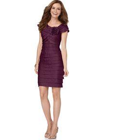 London Times Dress, Rosette Cocktail Dress - Mother of the Bride Dresses - Women - Macy's
