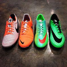 New colors of #Nike #Mercurial & #Hypervenom (Neo Lime),