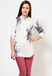 Printed White Tunic by Allen Solly... for a sunny day out.