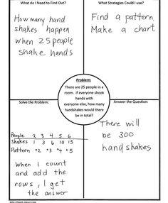 Problem Solving in Math: 4 Block using Handshake Problem