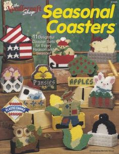 Seasonal-Coasters-Plastic-Canvas-Patterns-TNS-913325-Owls-Hens-Bunnies-More