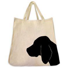 Beagle Tote Bag - Silhouette Design