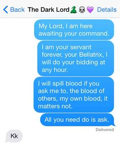 "12 Texts From The ""Harry Potter"" Universe- I can't even handle these! AWESOME"