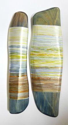 'Autumn reflections' Hand-dyed textile piece. Helena Emmans. https://www.facebook.com/pages/Helena-Emmans-Artist/205417846165136?ref=tn_tnmn