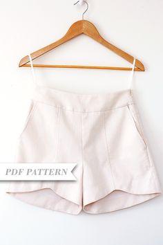 Scalloped hem shorts pattern.