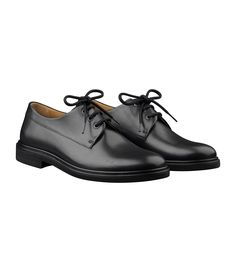 Derbies Gustave - Men's Shoes - Smooth leather - Black - A.P.C. accessories