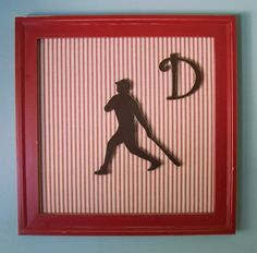 like the silhouette and need stuff for the walls in the office (sports themed...) gonna play around w/this idea and some scrapbooking paper...