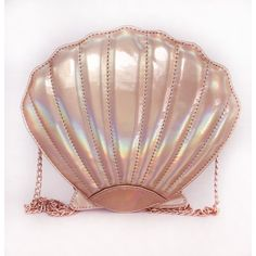 BOLSA MERMAID SHELL DOURADA