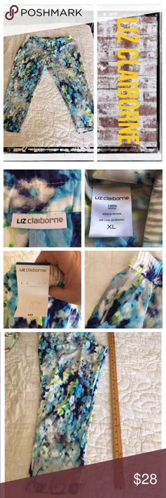 Liz Claiborne watercolor print harem pants BNWT.                                                                                REASONABLE OFFERS ONLY- -Smoke and pet free - I try to stay around 75% off MSRP; please keep this in mind when making offers.  -I do not model anything; everything looks different on everyone and I don't wasn't too Jade that. I will provide measurements if needed.  -NO HOLDS, NO TRADES, POSH RULES ONLY! Liz Claiborne Pants