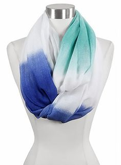 Ombre Infinity Scarf in Blue - I love this. I can see it with a white shirt and jeans!!