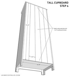 tall cupboard - buildsomething.com Diy Kitchen Storage Cabinet, Diy Furniture Building, Cupboards, Games For Kids, Home Remodeling, Farmhouse Style, Playroom, Shelving, Basement