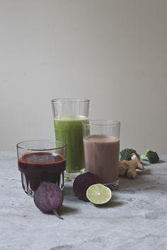green, red and amber juice // by Wij Zijn Kees // www.ilovesla.com