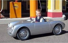 David Beckham's son's Porche: The toy car is beautifully handcrafted and runs on a diesel engine. The single seater tiny Porche bears a price tag of £50,000, which makes approx. $72,610.