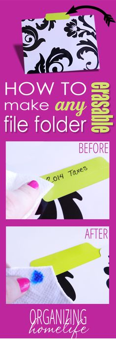 How to Make DIY Erasable Labels on Any Cute File Folder