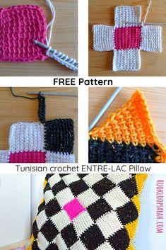 Unconventional crochet creations for kids, grown-ups and the home Tunisian Crochet Patterns, Granny Square Crochet Pattern, Knitting Patterns Free, Crochet Stitches, Free Pattern, Crochet Cow, Quick Crochet, Crochet Cushion Cover, Crochet Pillow