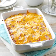 Firecracker Casserole Recipe -My husband and I love this Southwestern-style casserole. The flavor reminds us of enchiladas, but this handy recipe doesn't require the extra time to roll them up. —Teressa Eastman, El Dorado, Kansas