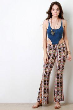 Floral Bohemian Bell Bottom Pants – Style Lavish