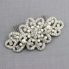 Big Size Bridal Hair Comb Art Deco Wedding Hair Accessories Pearls Silver Bridal Headpiece Hair Pin Luxury [HC1050] $12.99 - Tyale Jewelry