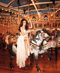 Kind of a fantasy pic- I have a thing for carousels and it would be fun to float around a fun fair dressed like this, along with the right guy dressed equally glamorously of course.