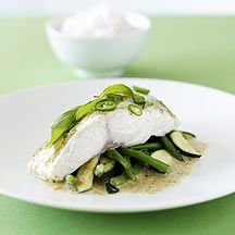 rode snapper met thaise groene curry