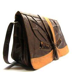 Jaren 80 vintage bruine tas   Tassen Online   28395