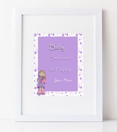NURSERY WALL DÉCOR for Baby Room, cute dainty doll, Baby Wall Art, Art Print  Quotes , baby shower gift,unique baby gift, Playroom poster by AnnMaryConsulDesigns on Etsy