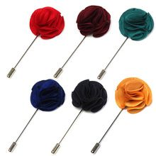2015 New Stylish Hot Sale 6 Colours Lapel Flower Daisy Handmade Boutonniere Stick Brooch Pin Mens Accessories(China (Mainland))