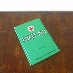 1957 American Red Cross First Aid Book #vintage #etsy