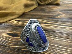 #Tribal #Afghan #lapis #lazuli #bracelet, #Gypsy bracelet,#Bohemian cuff, #Ethnic jewelry, #Tribal jewelry, boho cuff, Boho Bracelet, #Antique