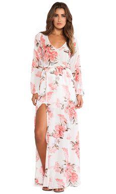 Show Me Your Mumu Jocelyn Maxi Dress in Blossom Blush