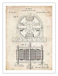 TESLA POSTER Electric Motor 1888 Patent Art Poster Print ... http://www.amazon.com/dp/B00IA3NSMG/ref=cm_sw_r_pi_dp_U1Buxb0GS0EJQ