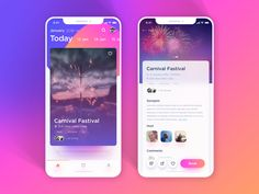 "3,634 Likes, 11 Comments - UI DESIGNS (@ui.designs) on Instagram: ""Event Booking Concept by Vijay Verma @realvjy - Link: https://dribbble.com/shots/4087036 - Tag…"""