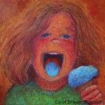 """""""Blue Moon"""" by Carol Brauer Schmidt, fine artist and member of the Gallery Uptown located in Grand Haven, Michigan."""