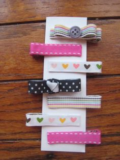Handmade Barrettes for the granddaughter in my life.