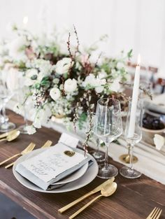 Jessica Kay Napa wedding and portrait fine art film photographer. Cornerstone Sonoma wedding with Lauras Floras. Blue calligraphy and gold flateware
