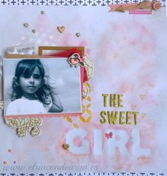 """Layout """"The sweet girl"""""""