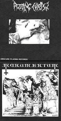 Rotting Christ / Monumentum  Split  1991 Rotting Christ, Christen, Music Is Life, Black Metal, Darkness, Cover Pages
