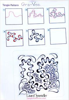 How to draw GRA-VEE « TanglePatterns.com